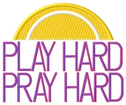 Play Hard Tennis embroidery design