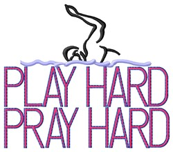 Play Hard Swimming embroidery design