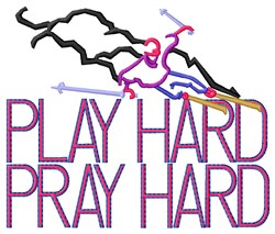 Play Hard Skiing embroidery design
