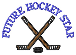 Future Hockey Star embroidery design