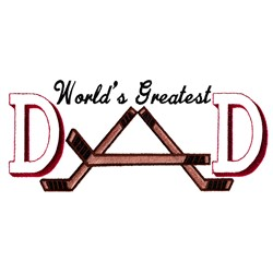 Greatest Hockey Dad embroidery design