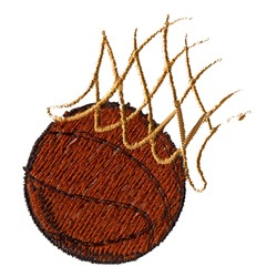 Net and Basketball embroidery design