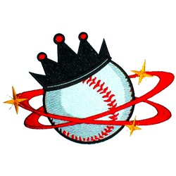 Softball King embroidery design