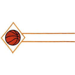 Basketball Name Drop embroidery design