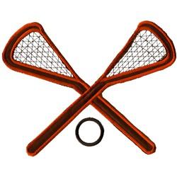 Applique Lacrosse Sticks embroidery design