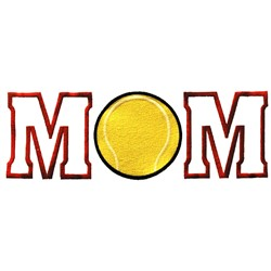 Tennis Mom embroidery design