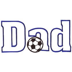 Soccer Dad embroidery design