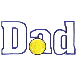 Tennis Dad embroidery design