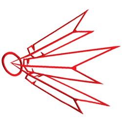 Dart Logo Outline embroidery design
