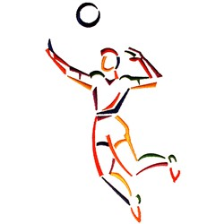 Male Volleyball Player embroidery design