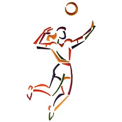 Female Volleyball Player embroidery design