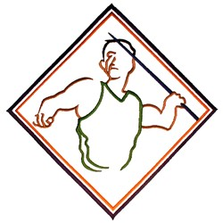 Javelin Thrower embroidery design