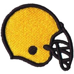 Foam Football Helmet embroidery design
