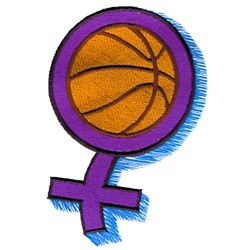 Girls Basketball embroidery design