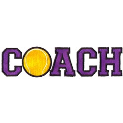 Tennis Coach embroidery design