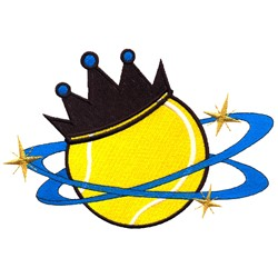 Tennis King embroidery design