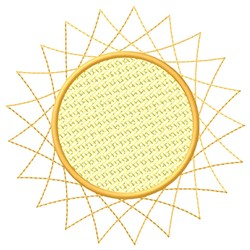 Spirograph Sun embroidery design
