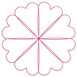 Floral Spirograph embroidery design