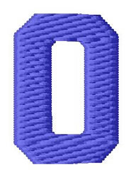Sport Number 0 embroidery design