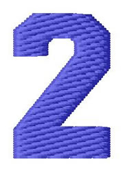 Sport Number 2 embroidery design