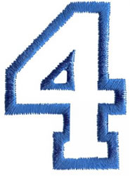 Sport 4 embroidery design