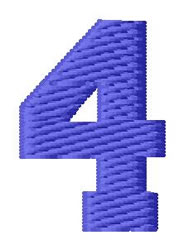 Sport Number 4 embroidery design