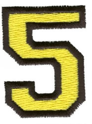 Sport 5 embroidery design