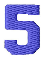 Sport Number 5 embroidery design