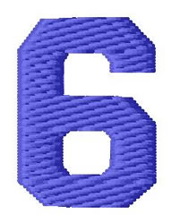 Sport Number 6 embroidery design