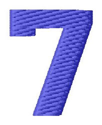 Sport Number 7 embroidery design