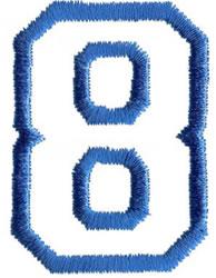 Sport 8 embroidery design