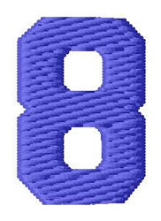 Sport Number 8 embroidery design