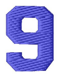 Sport Number 9 embroidery design