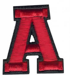 Sport A embroidery design