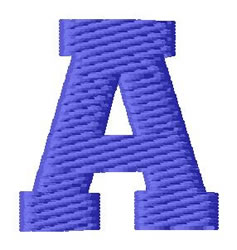 Sport Letter A embroidery design