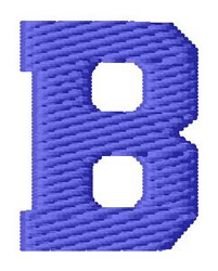 Sport Letter B embroidery design