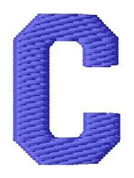 Sport Letter C embroidery design