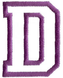 Sport D embroidery design