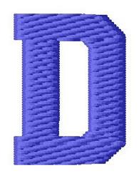 Sport Letter D embroidery design