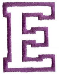 Sport E embroidery design