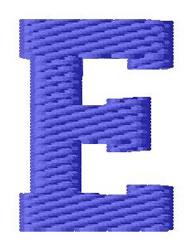 Sport Letter E embroidery design