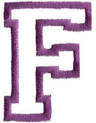 Sport F embroidery design