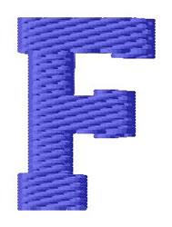 Sport Letter F embroidery design