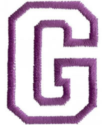 Sport G embroidery design