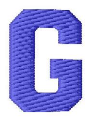 Sport Letter G embroidery design