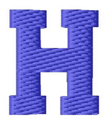 Sport Letter H embroidery design