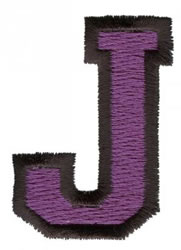 Sport J embroidery design