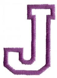 Sport J embroidery design