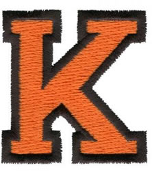 Sport K embroidery design