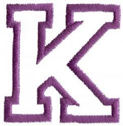 Sport K embroidery design